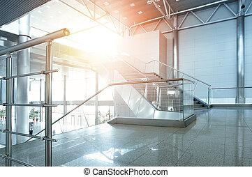 Interior of office building - Interior of modern office...