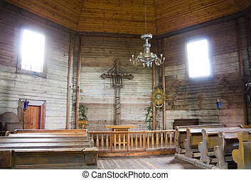 interior of old church