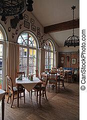 Interior of old restaurant in Austria