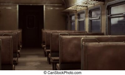 interior of old soviet electric train