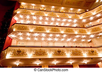 Interior of opera and ballet theater