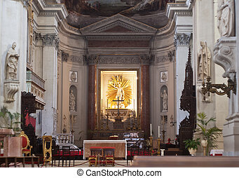 Interior of Palermo Cathedral, Sicily - interior of Palermo...