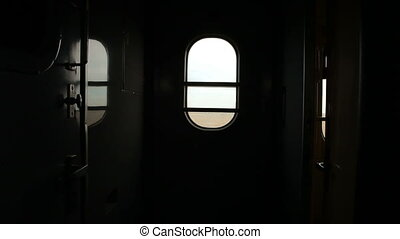 Interior of passenger train car