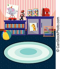 Interior of play room