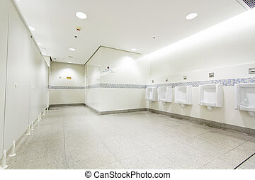 interior of private restroom