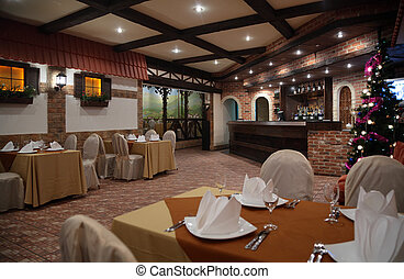 Interior of restaurant