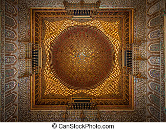 Interior of Royal Alcazars of Seville, Spain