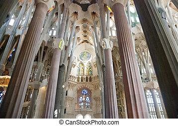 Interior of Sagrada Famila Church