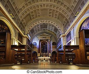 Interior of Saint Sebastian church