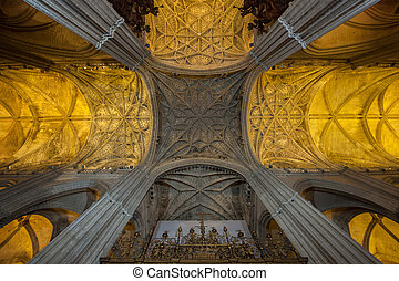 Interior of Seville Cathedral, Spain