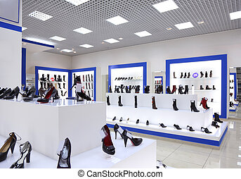 Interior of shoe shop