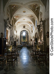Interior of Siracusa cathedral