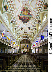 St. Louis Cathedral - Interior of St. Louis Cathedral in...