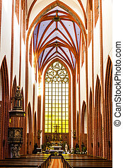 interior of St Mary Magdalene''s Church, Wroclaw, Silesia, Poland
