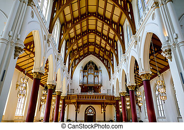 interior of st vitus cathedral of seville spain, in Sweden Scandinavia North Europe