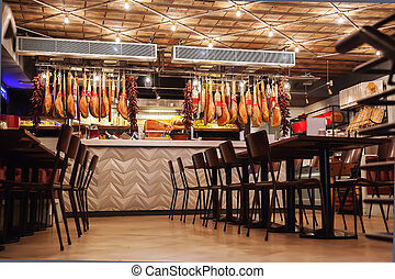 stylish Italian restaurant - interior of stylish Italian ...