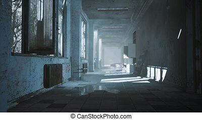 interior of the abandoned soviet building