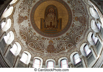Interior of the Basilica of Saint-Martin, Tours, France