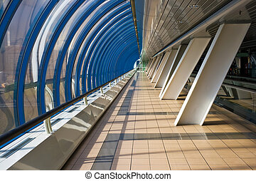 Interior of the business bridge Bagration - Pedestrian ...