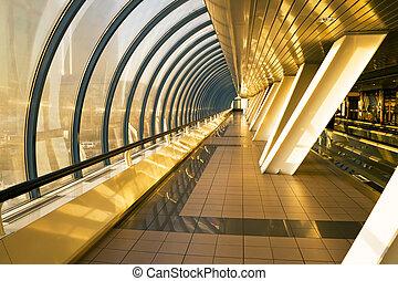 Interior of the business bridge Bagration