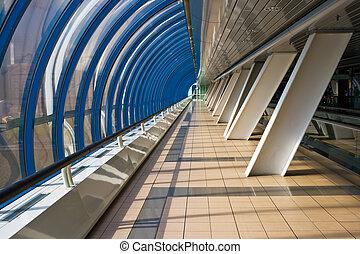 Interior of the business bridge Bagration - Pedestrian...