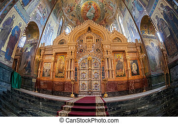 Interior of the Church of the Savior on Spilled Blood in St....