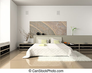 Interior of the comfortable bedroom - Interior of the...