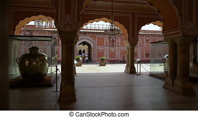 Interior of the Diwan-i-Kas at the City Palace. - Features...