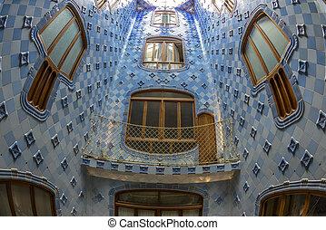 Interior of the famous casa Battlo building