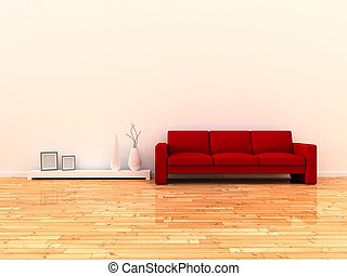 Interior of the modern room - 3d render interior of the...