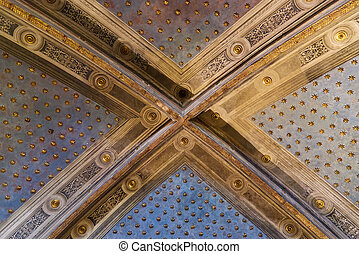 Interior of the museum complex of Santa Maria della Scala in Siena. High quality photo