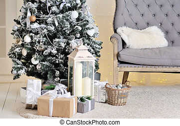 Interior of the New Year and Christmas style