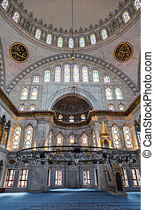 Interior of the Nuruosmaniye Mosque