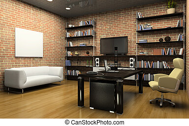 Interior of the private office 3D