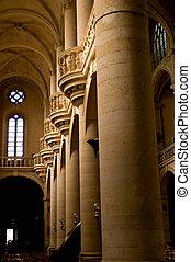 Interior of the Saint Etienne church in Paris