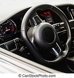 Interior of the sports car