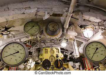interior of the submarine