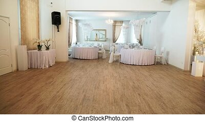 interior of the wedding banquet room with decor