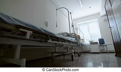 Interior Of Two Empty Hospital Beds