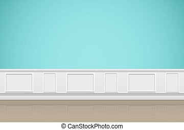 Interior of Wall of luxury apartments. Modern room concept. Vector Illustration.