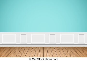 Interior of Wall of luxury apartments with wooden floor. Modern room concept. Vector Illustration.