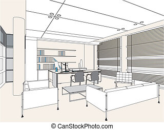 Interior Office Room