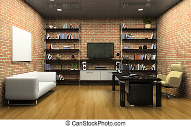 interior, oficina privada