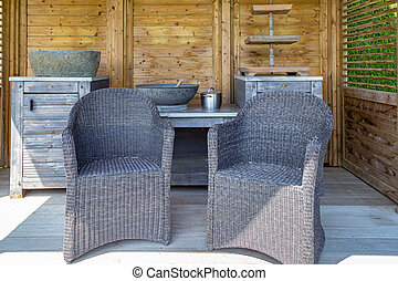 Interior outdoor sunshade