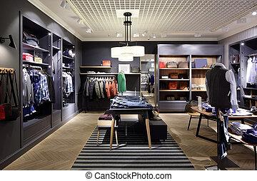 interior, pano, marca, loja, novo
