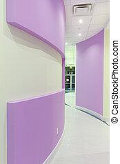 interior, pasillo, diseño