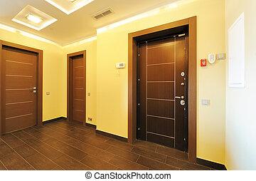 interior, pasillo, habitación, vacío