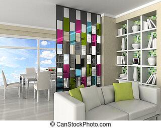interior, quarto moderno