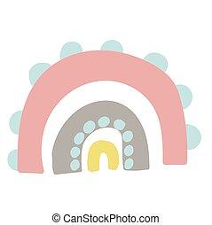 Interior rainbow. Abstract modern illustration. Trendy vector. Baby illustration