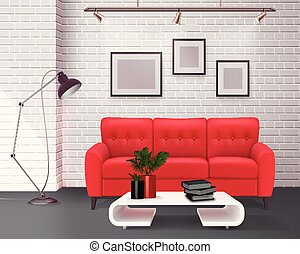 Interior Realistic Image - Contemporary simple clean living...